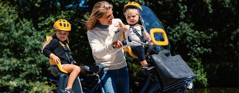 Kinderzitjes op een elektrische fiets