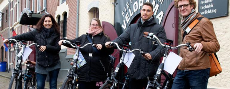 Mooi winter fietsers