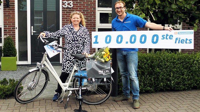 De 100.000ste fiets van Fietsenwinkel.nl
