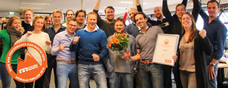 Fietsenwinkel.nl beste e-bike webshop van 2016!