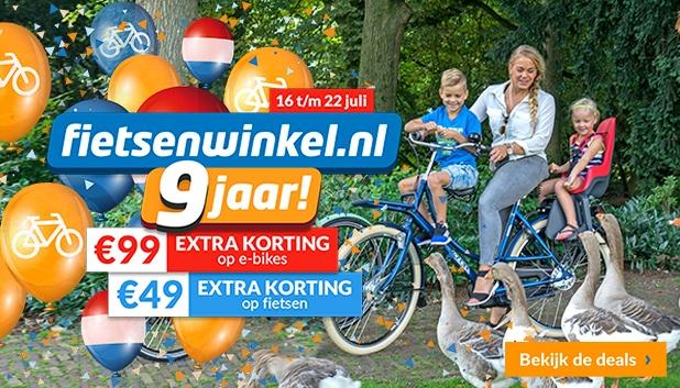 Fietsenwinkel 9 jaar bij Fietsenwinkel.nl!