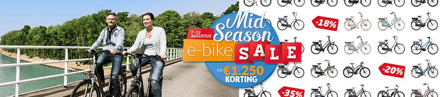 Mid Season E-bike Sale: t/m 13 augustus extra hoge kortingen op geselecteerde e-bikes!