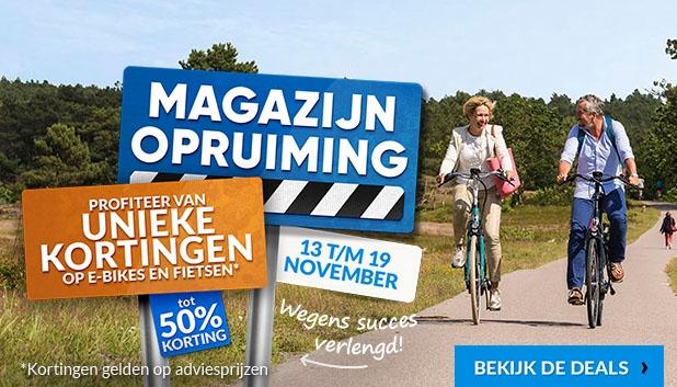 Magazijnopruiming: profiteer van unieke kortingen tot 50% op e-bikes en fietsen!