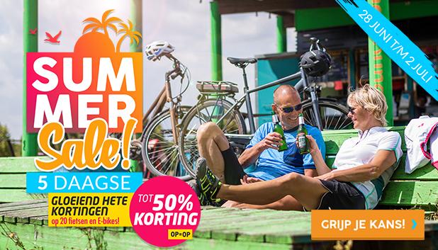 Summer Sale 5-Daagse: gloeiend hete kortingen op 20 E-bikes en fietsen!