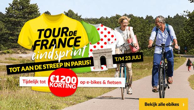 Profiteer tot en met 23 juli van extra hoge kortingen op geselecteerde fietsen tijdens de Tour de France Eindsprint!