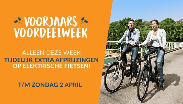 Voorjaars Voordeelweek: tot en met 2 april extra afprijzingen op elektrische fietsen.