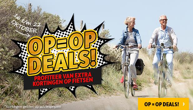 OP = OP Deals: profiteer van 16 tot en met 22 oktober van extra kortingen op fietsen!