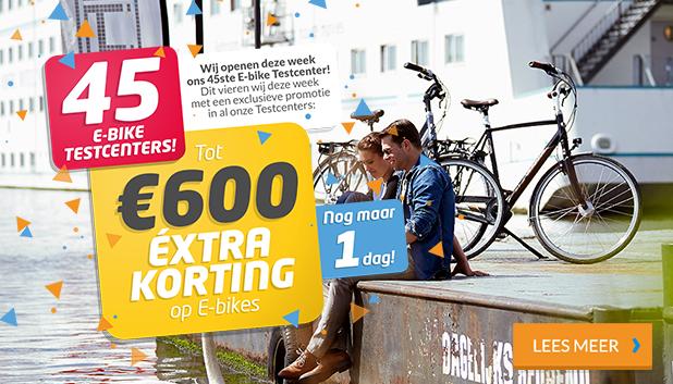 45 E-bike Testcenters geopend: vier met ons mee!