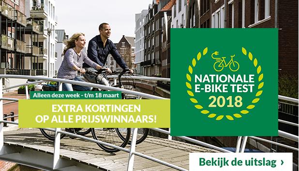 De uitslag van de National E-bike Test 2018 bij Fietsenwinkel.nl!