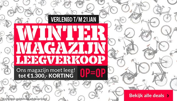 Winter Magazijn Leegverkoop bij Fietsenwinkel!