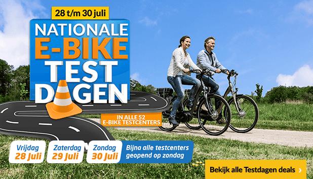 Profiteer tot en met 30 juli van extra hoge kortingen op geselecteerde e-bikes tijdens de E-bike Testdagen!