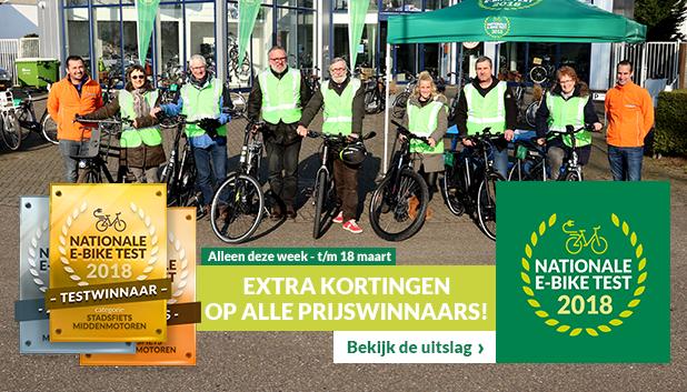 Nationale E-bike Test 2018 bij Fietsenwinkel.nl!