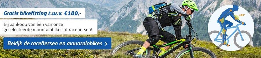 Gratis Bikefitting Racefietsen en Mountainbikes