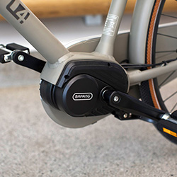 E-bike motor in de trapas