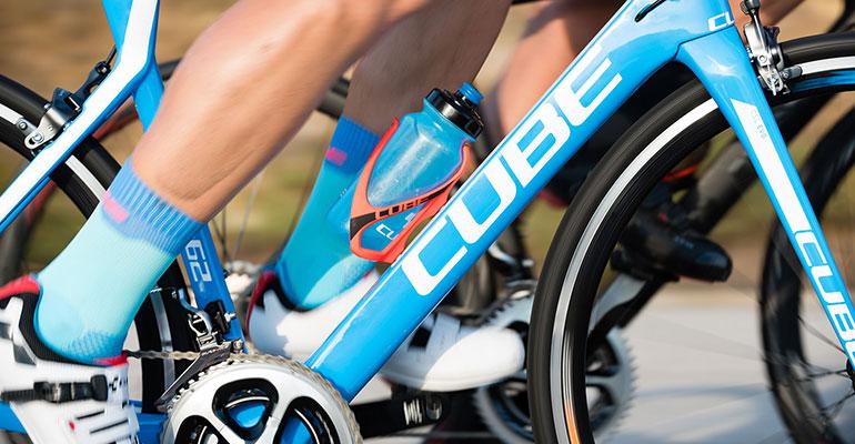 Afbeelding Bidon op de fiets