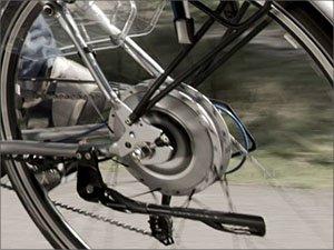 E-bike motor in het achterwiel