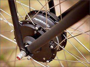 E-bike motor in het voorwiel