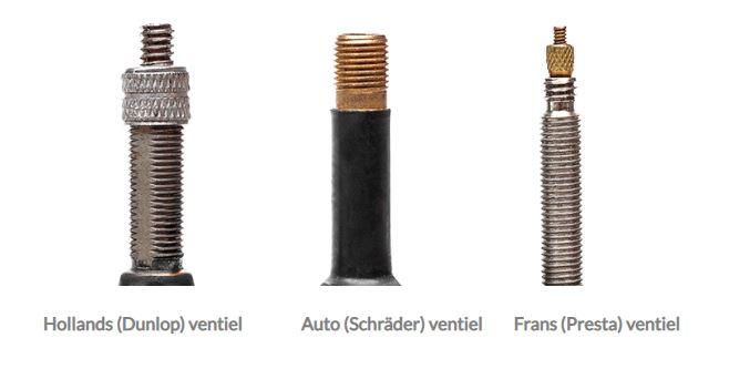Verschillende ventielsoorten