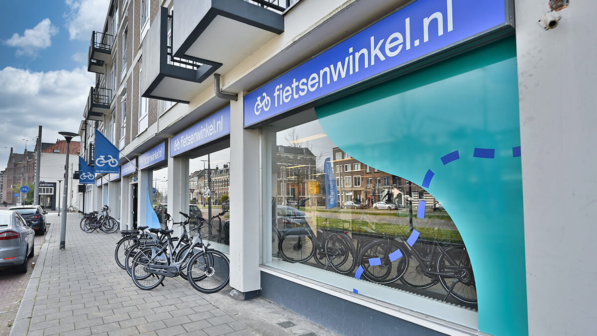 Fietsenwinkel Arnhem Sfeerimpressie