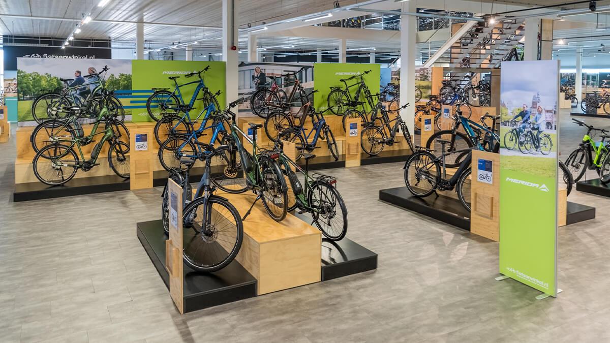 Merida elektrische fietsen in E-bike Megastore Utrecht