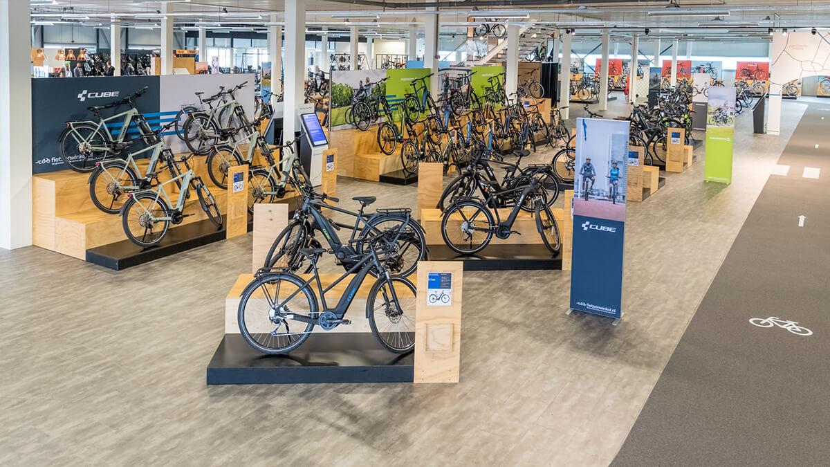 Cube elektrische fietsen in E-bike Megastore Utrecht