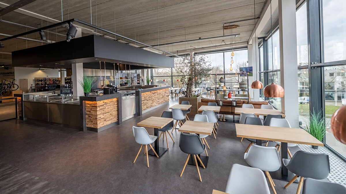 Het restaurant in E-bike Megastore Utrecht