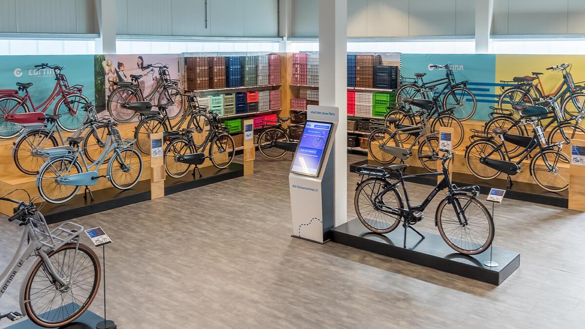 Cortina elektrische fietsen in E-bike Megastore Utrecht