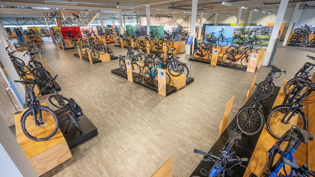 Groot aanbod elektrische fietsen in E-bike Megastore Utrecht