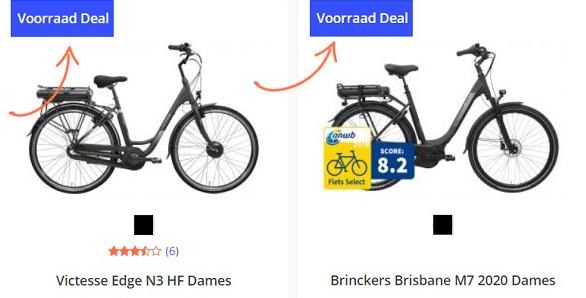 Voorraad Deals bij Fietsenwinkel.nl